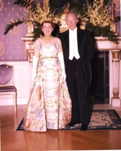 Ike and Mamie Eisenhower at Formal Dinner