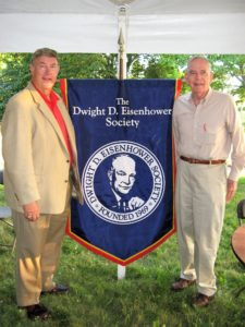 Eisenhower Society Chairman: General Samuel Lessey and Vice Chairman: Dr Walton Jones