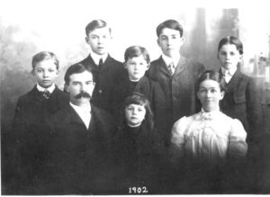 Ike (left) with his family, Abilene, Kansas