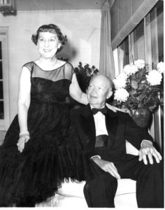 In retirement, Mamie and Ike prepare to celebrate Ike's 71st birthday at John's house