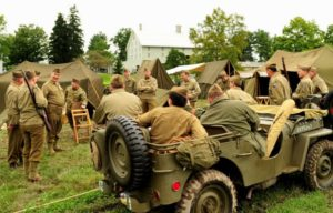 World War II Weekend, Soldiers and Jeep