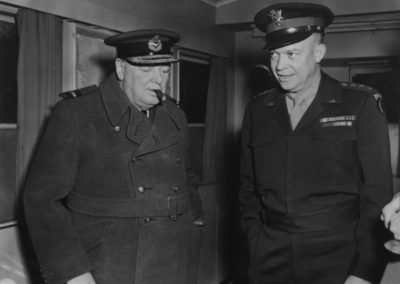 Eisenhower and Churchill meet, 1944