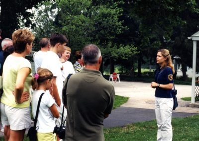 Eisenhower Society intern presents tours to visitors at Eisenhower Site