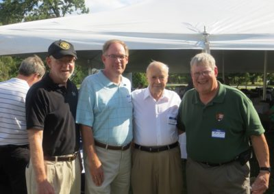 Vice President Tony Ten-Barge and picnic guests pose with Acting Superintendent Bill Justice