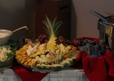 Yummy hors d'oeuvres were served